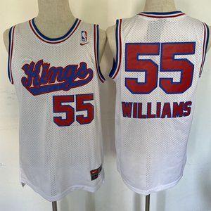 Shirts - Sacramento Kings Jason Williams  White Jersey